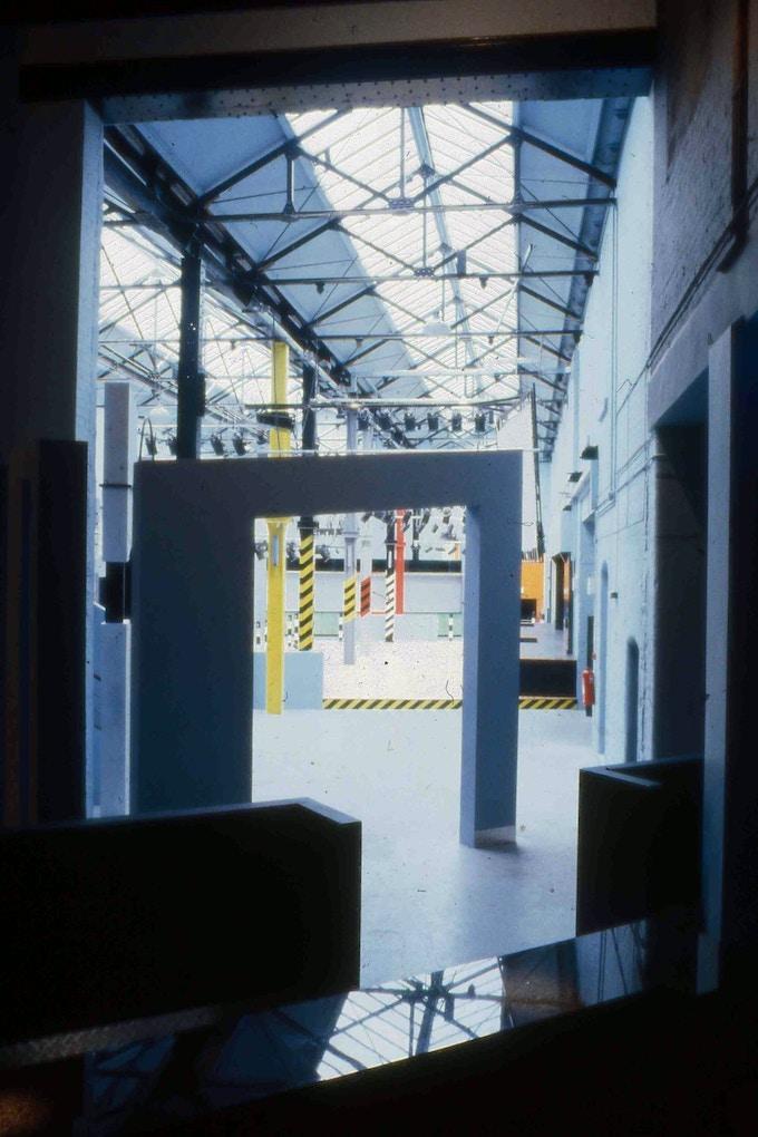 Interior photograph of the Hacienda in Manchester