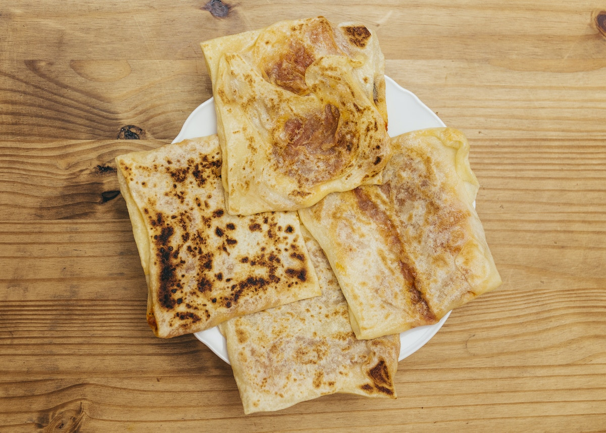 Top down view of Algerian crepes